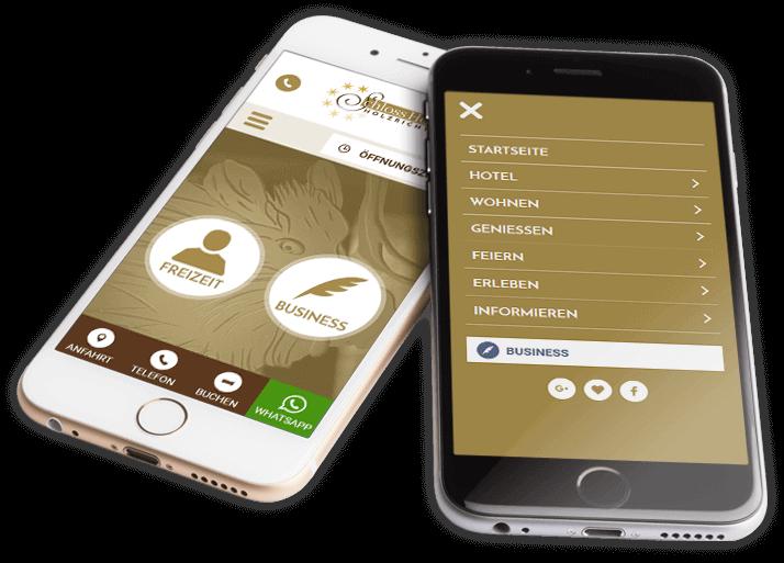 Holzrichter Webdesign auf Handy